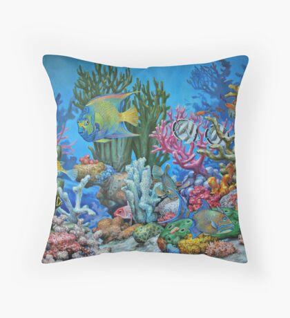 Caribbean Reef Throw Pillow