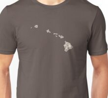 Hawaii Vintage Picture Map Unisex T-Shirt