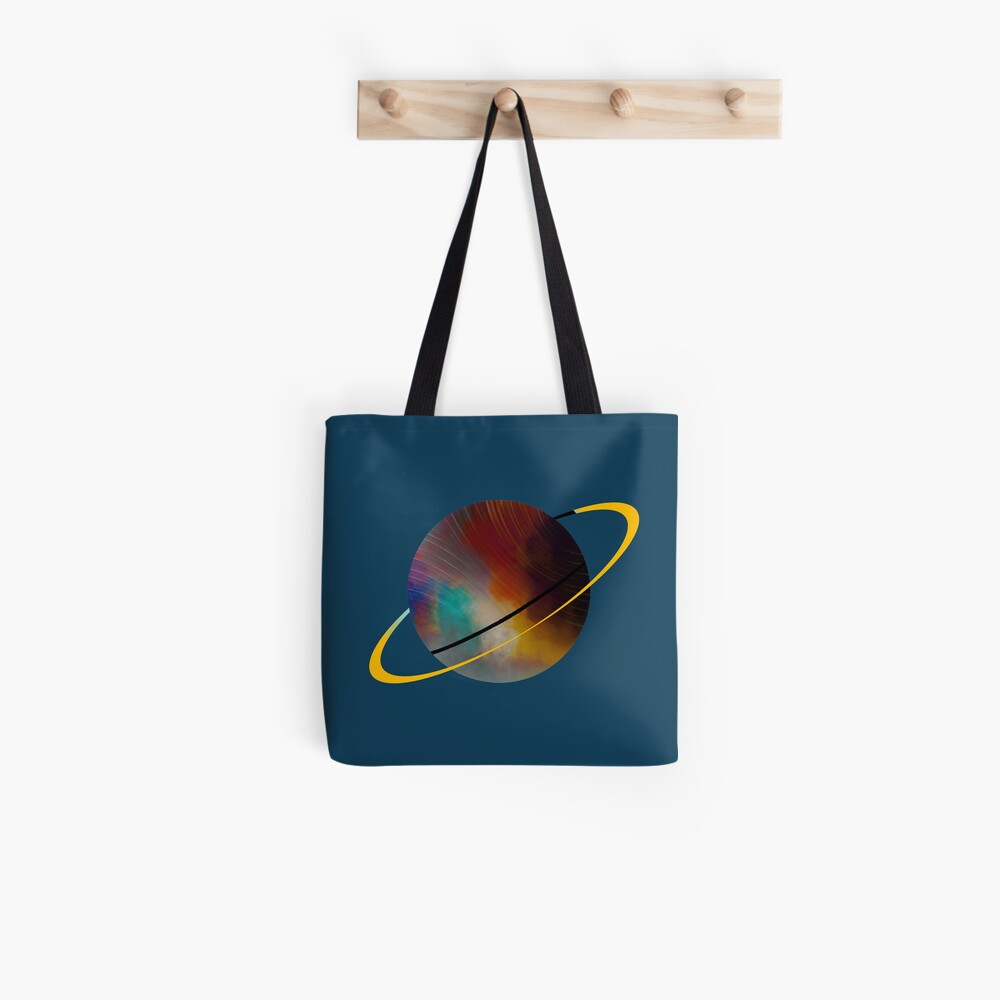 Planet with a Ring Tote Bag