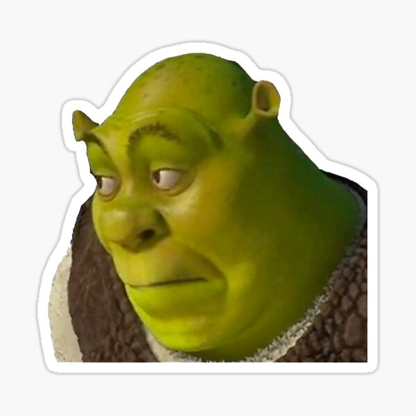 Shrek Meme Sticker By Amemestore Redbubble