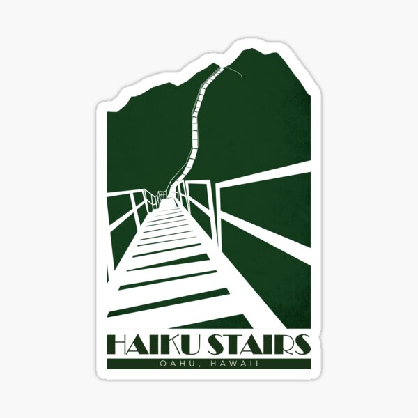 Haiku Stairs - Oahu, Hawaii Sticker