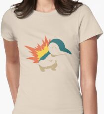 Minimalist Cyndaquil Womens Fitted T-Shirt