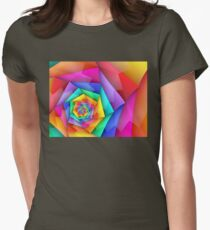 Fractured Rainbow Womens Fitted T-Shirt