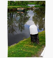 Reflections, Fenniscourt Lock, Bagenalstown, County Carlow, Ireland Poster