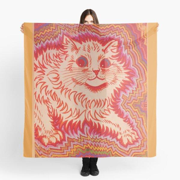 Louis Wain Orange Psychadelic Cat Scarf