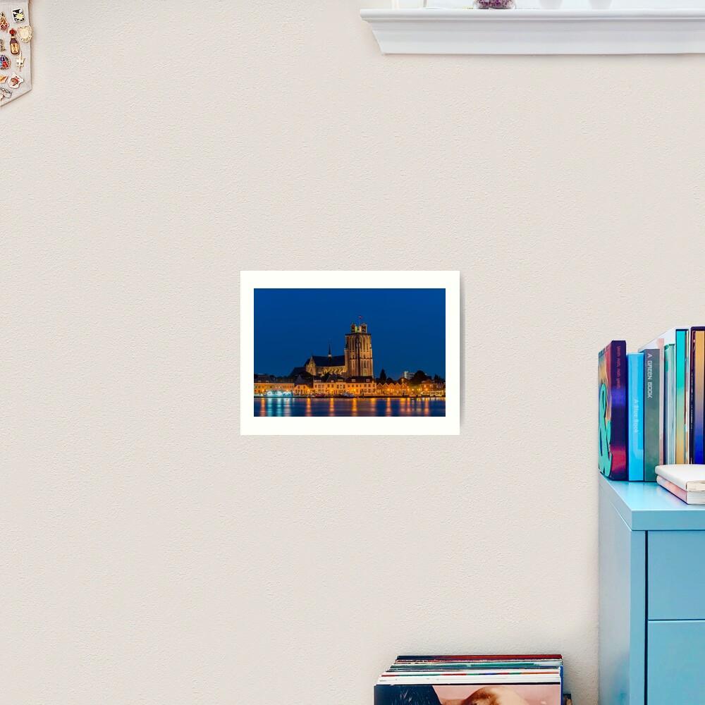 Evening Skyline of Dordrecht Art Print