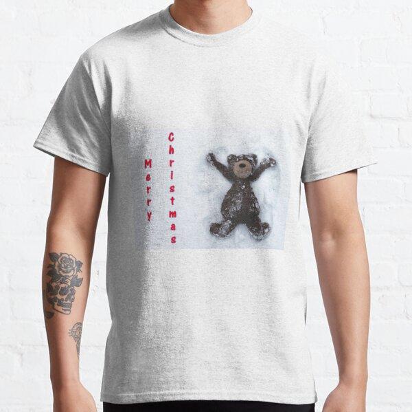 Merry Christmas Teddy Bear Snow Angel Classic T-Shirt