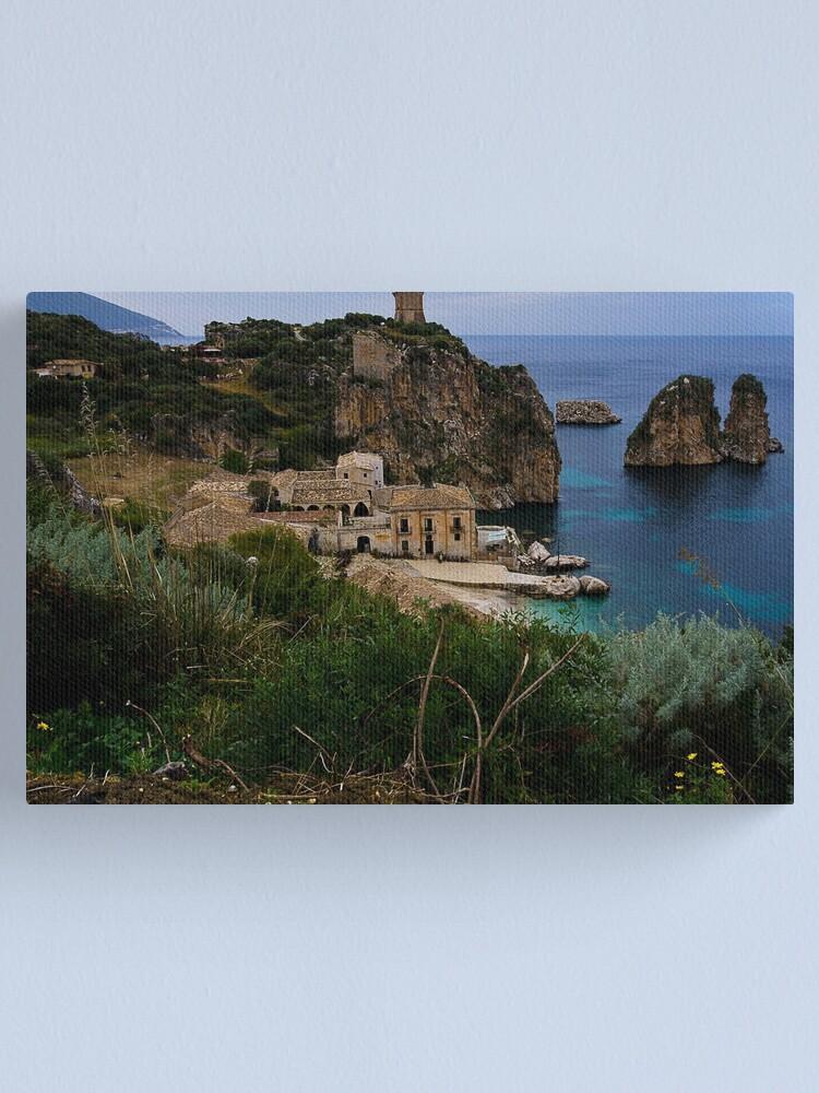 Alternate view of La tonnara di Scopello Canvas Print