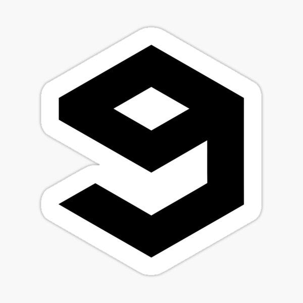 9gag Logo with white borders Sticker