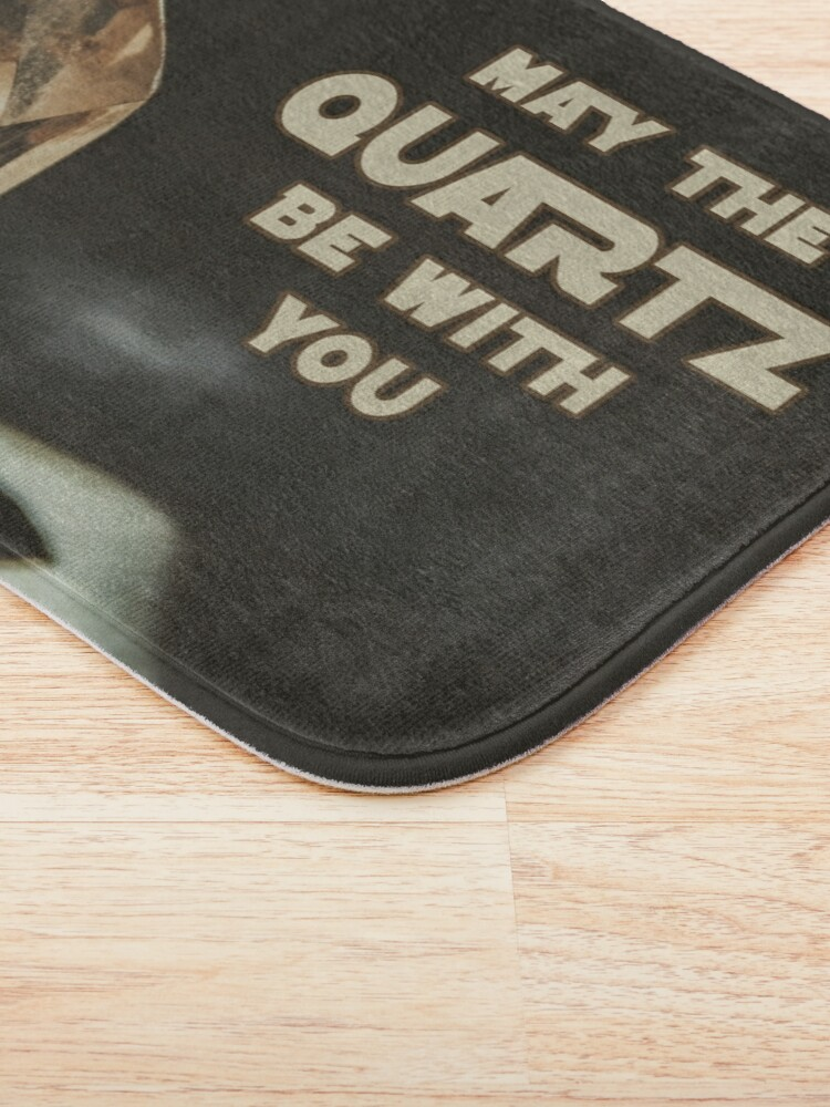 Alternate view of May The Quartz Be With You Bath Mat
