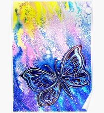 Cosmic Butterfly Poster