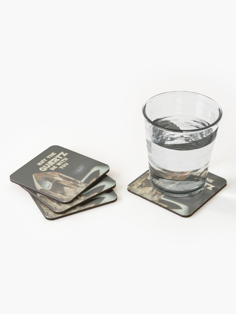 Alternate view of May The Quartz Be With You Coasters (Set of 4)