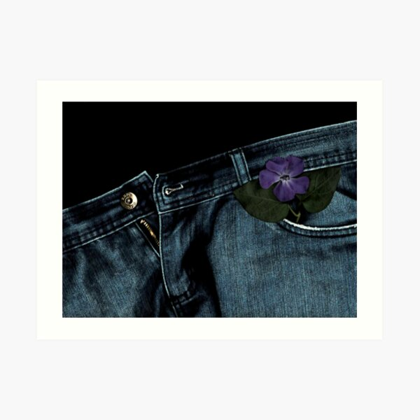 """""""Blue Jeans and Periwinkle"""" Art Print"""
