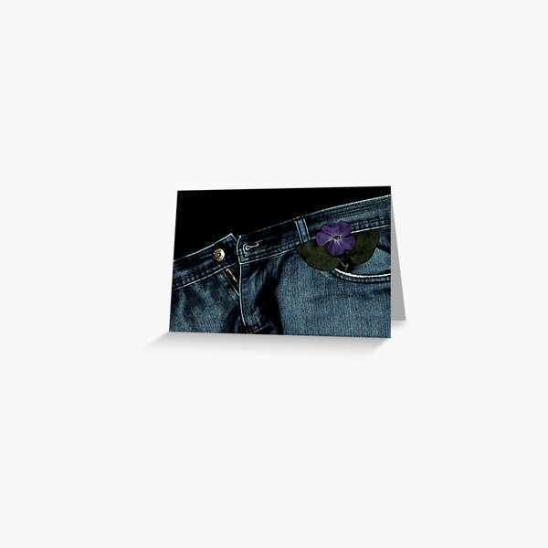 """""""Blue Jeans and Periwinkle"""" Greeting Card"""