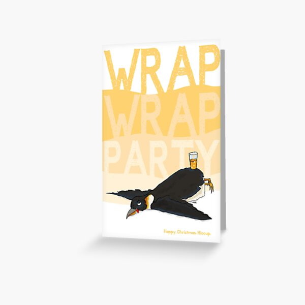 Wrap Wrap Party Penguin Greeting Card