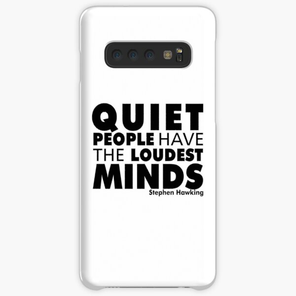Quiet People have the Loudest Minds | Typography Introvert Quotes White Version Samsung Galaxy Snap Case