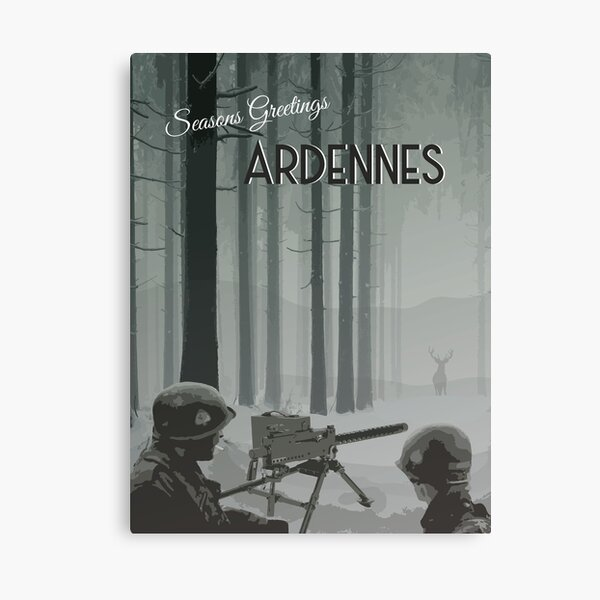 Ardennes - WWII Seasons Greetings Canvas Print