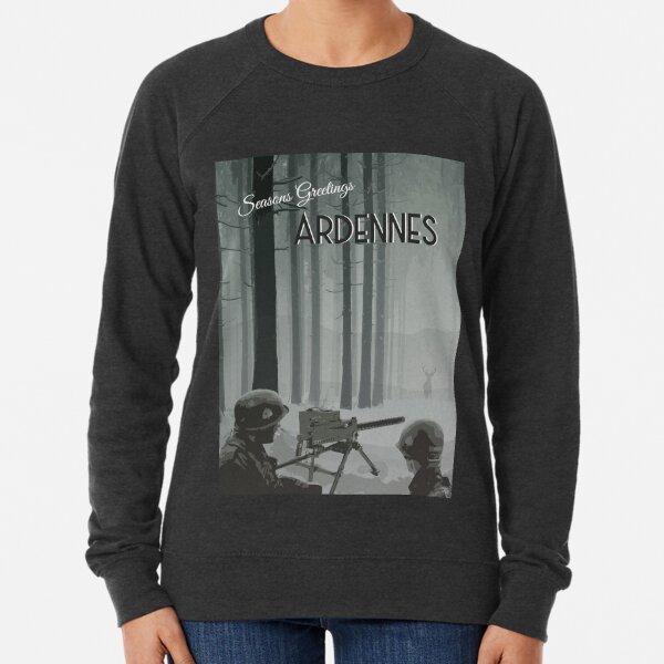 Ardennes - WWII Seasons Greetings Lightweight Sweatshirt
