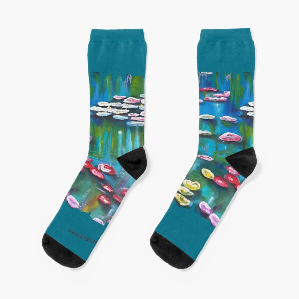 Water lilies, garden of Monet. Socks