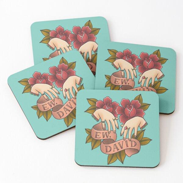 Ew David - Schitt's Creek - Alexis Rose Coasters (Set of 4)