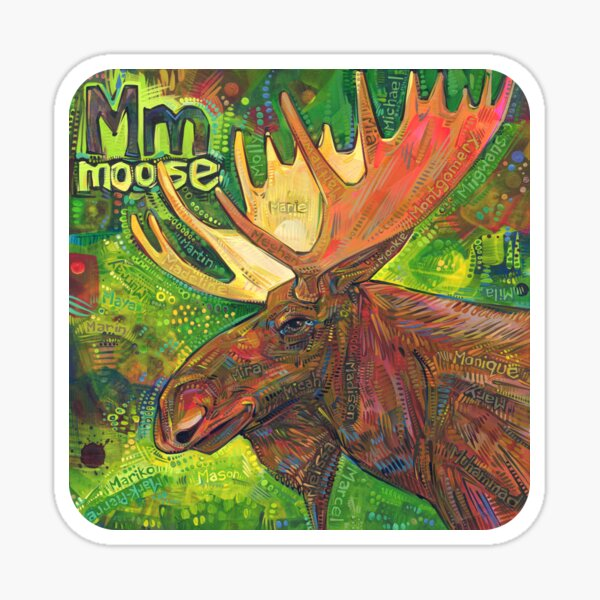 M Is for Moose - 2019 Sticker