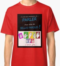 i LOVE YOU (in sign language) Classic T-Shirt