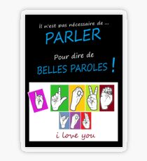 i LOVE YOU (in sign language) Transparent Sticker