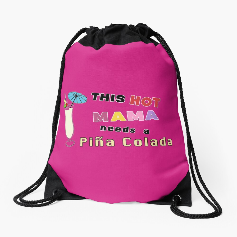 Pina Colada alcohol cocktail funny drinking gift. Drawstring Bag