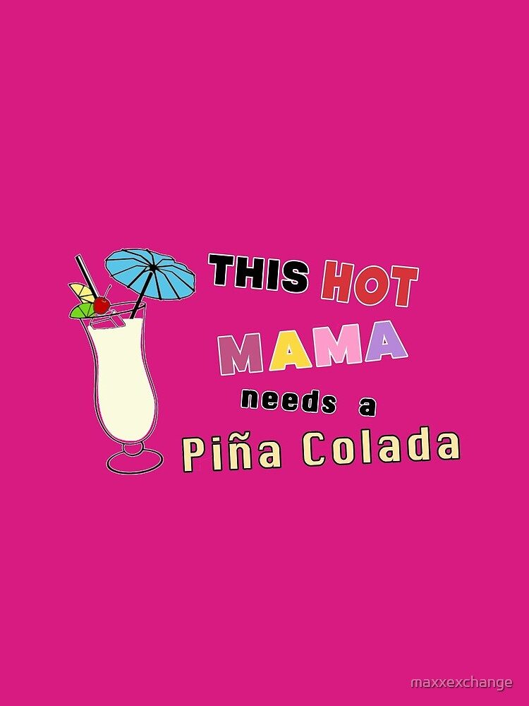 Pina Colada alcohol cocktail funny drinking gift. by maxxexchange