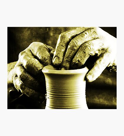 The Potters Hands.. Photographic Print