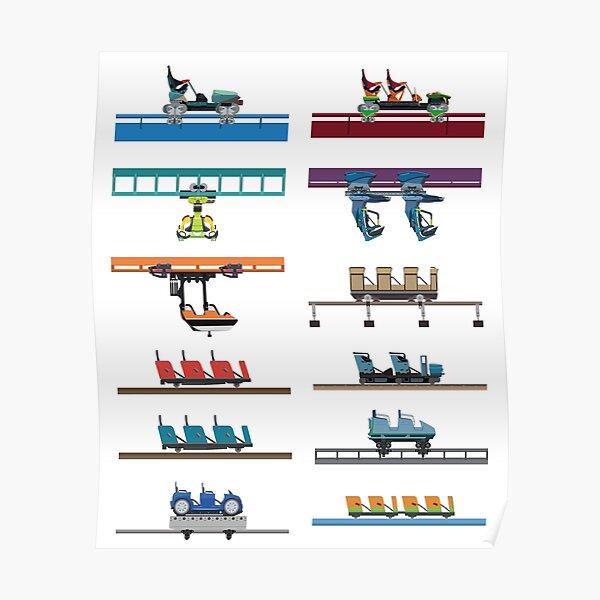 Kings Island Coaster Cars Design Poster