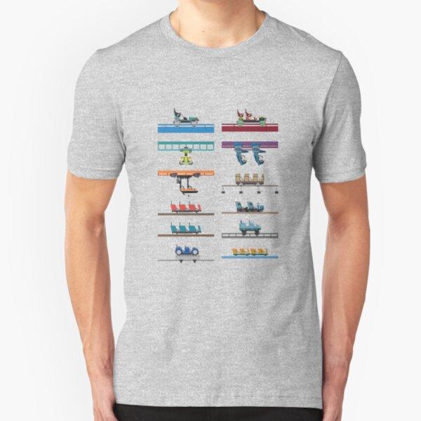 Kings Island Coaster Cars Design Slim Fit T-Shirt