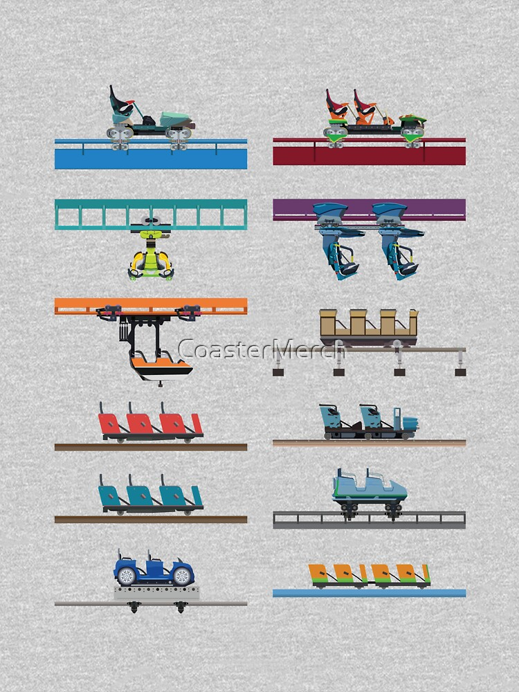 Kings Island Coaster Cars Design by CoasterMerch