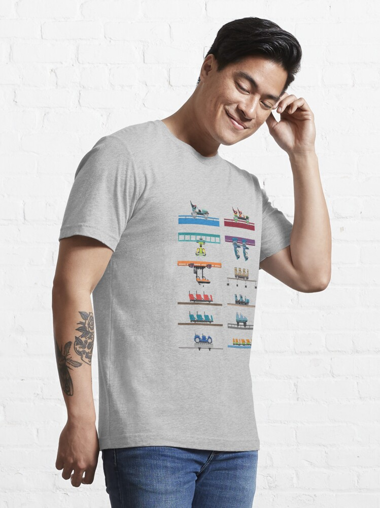 Alternate view of Kings Island Coaster Cars Design Essential T-Shirt
