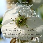 Affirmation - Blooming Life by TriciaDanby