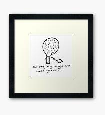 Ping pong advice Framed Print