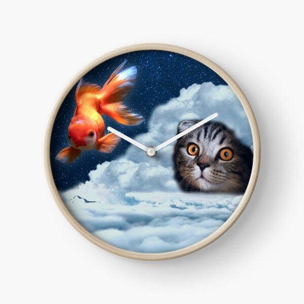 Kitty and Fishy Clock
