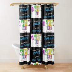 i LOVE YOU (in sign language) Shower Curtain
