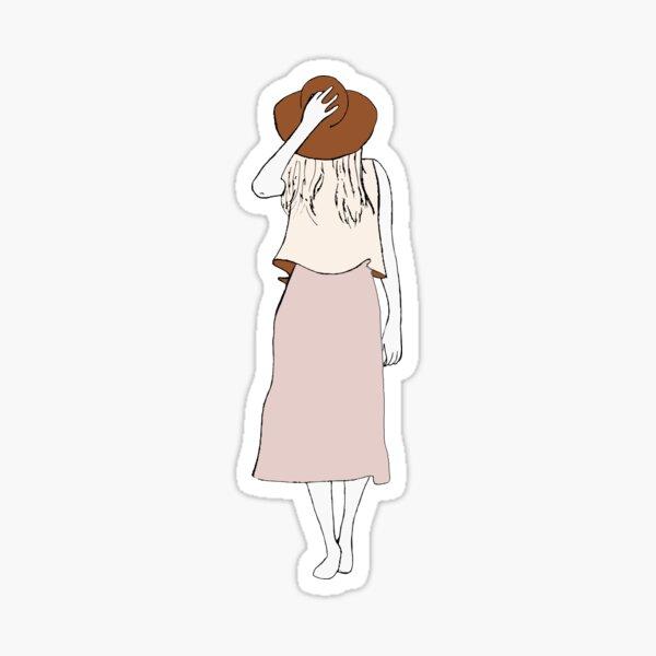Frau mit Hut Sticker