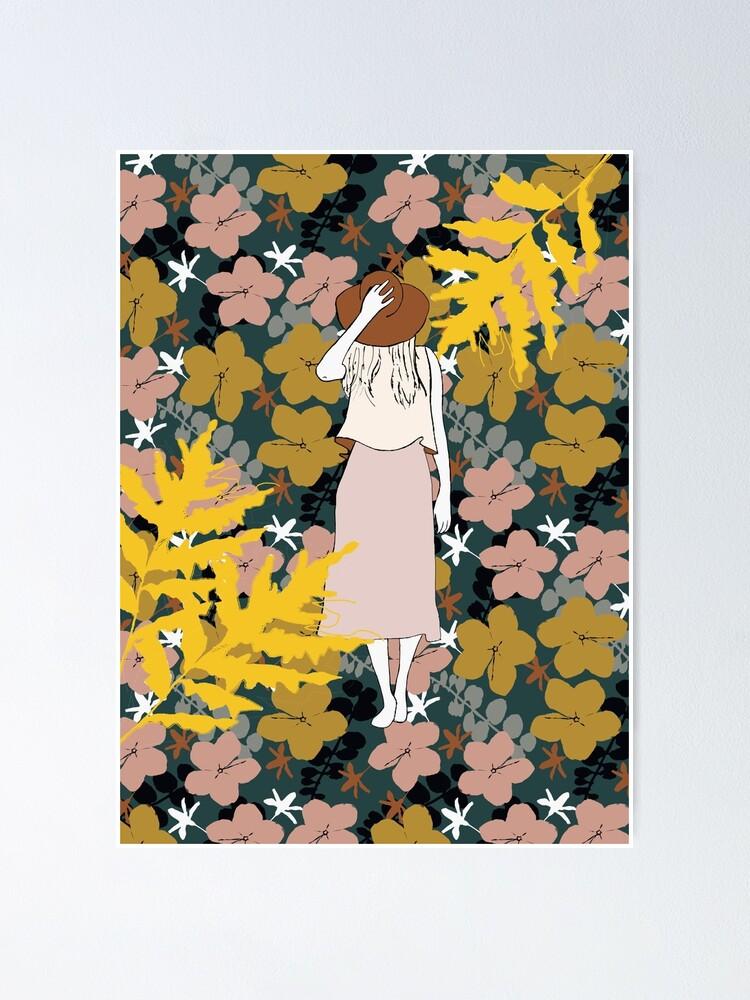 Alternative Ansicht von Frau mit Hut Poster