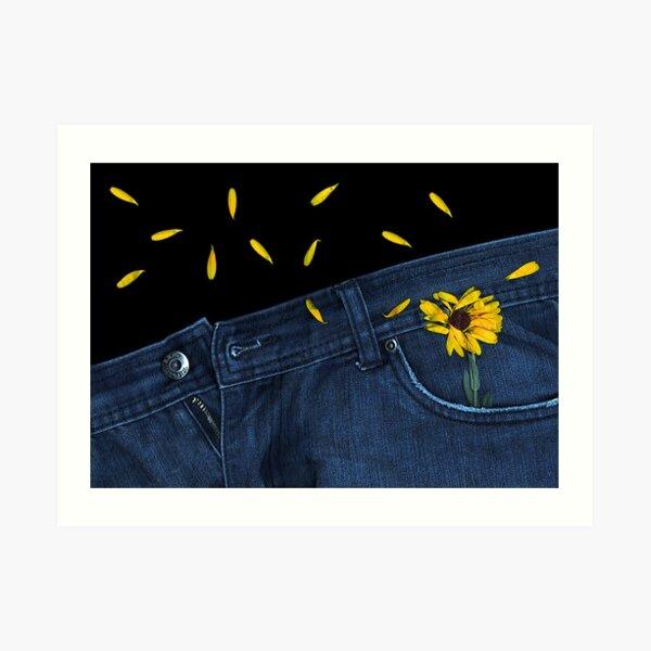 """Blue Jeans and Calendula"" Art Print"