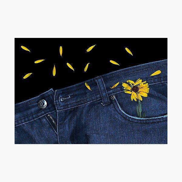 """Blue Jeans and Calendula"" Photographic Print"