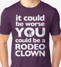 Rodeo Clown (White) Slim Fit T-Shirt