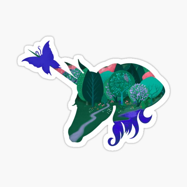 The Last Unicorn Leaving the Forest Sticker