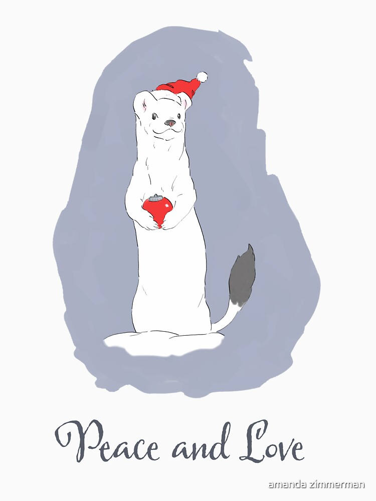 Christmas Weasel by salamandaz