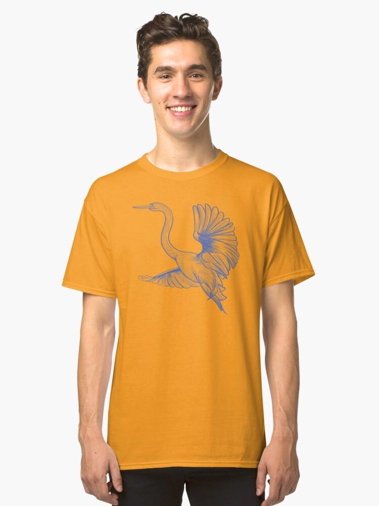 Alternate view of Egret flight Classic T-Shirt