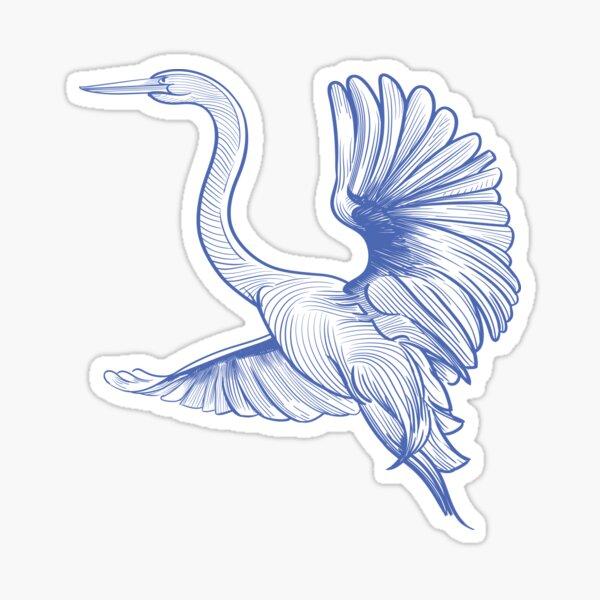 Egret flight Sticker