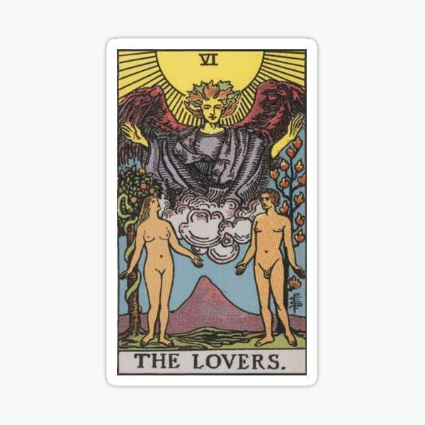 Tarot Card - The Lovers Sticker