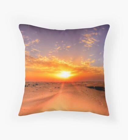 Dubai Desert HDR Panorama Throw Pillow