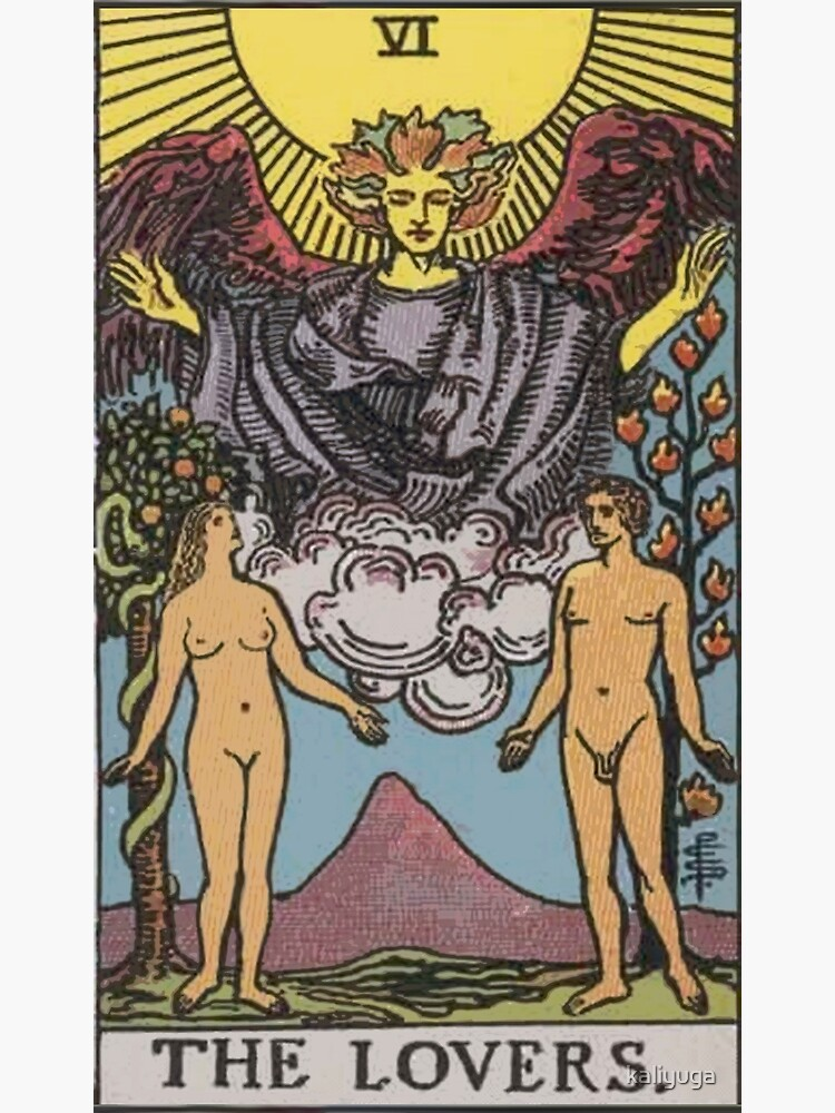 Tarot Card - The Lovers by kaliyuga